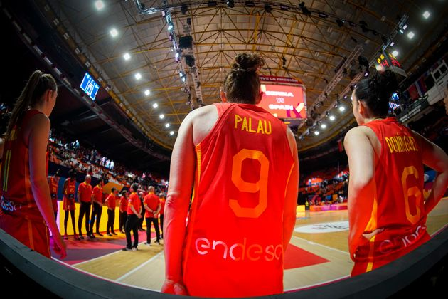 Laia Palau, antes del partido de cuartos de final del pasado Eurobasket contra