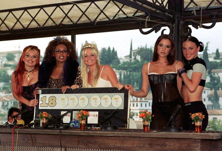 Spice Girls en la presentación del disco 'Spiceworld' en Granada el 7 de octubre de 1997.