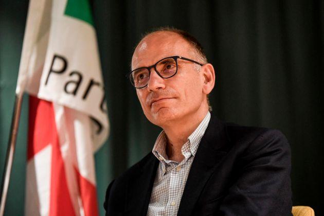 08/07/2021 Brescia, il segretario del PD Enrico Letta presenta il suo libro Anima e