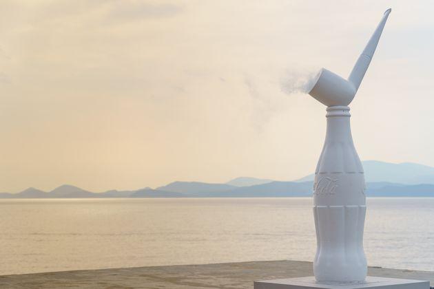 Αποψη εγκατάστασης, The Greek Gift Ίδρυμα ΔΕΣΤΕ, Σφαγεία Ύδρας (22 Ιουνίου – 31 Οκτωβρίου 2021) Φωτο...