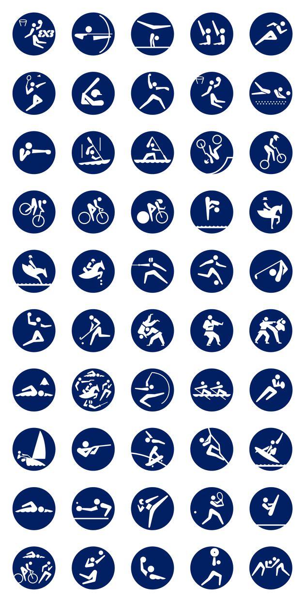 五輪競技のピクトグラム