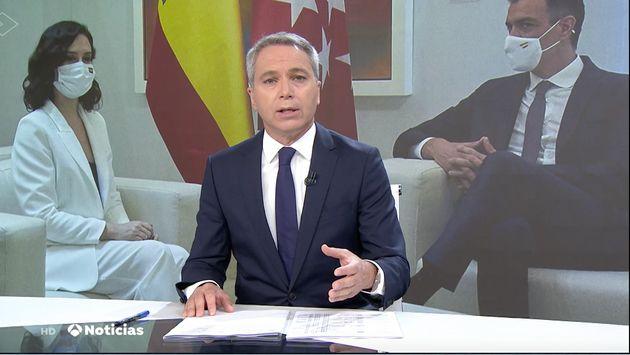 Vicente Vallés este viernes en el plató de Antena
