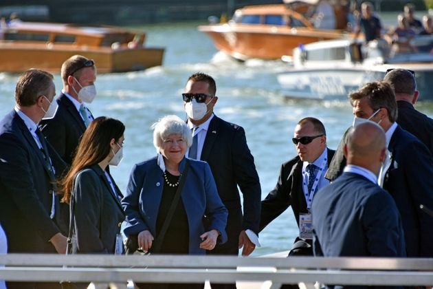 US Treasury Secretary Janet Yellen arrives at the Arsenale for the G20 Economy and Finance meeting, today 9 July 2021. ANSA/ANDREA MEROLA
