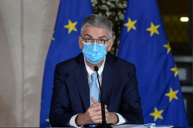 Dr Silvio Brusaferro, president of Superior Insitute of Health during the press conference to present the new Decree containing the new measures to contrast the Covid-19 pandemic. Rome (Italy), March 2nd 2021 (Photo by Stefano Carofei/Pool/Insidefoto/Mondadori Portfolio via Getty Images)