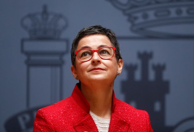 Arancha González Laya, el día de su toma de posesión en Exteriores, en enero de