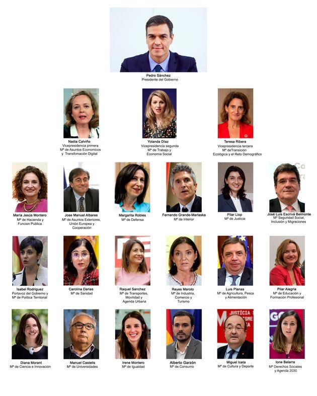 El nuevo Consejo de Ministros de Pedro