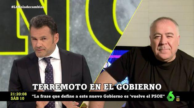 Ferreras en 'laSexta Noche' con Iñaki