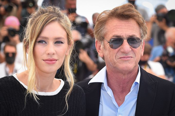 Sean Penn, pictured with daughter Dylan Penn at the Cannes Film Festival, took a moment to criticize the Trump administration