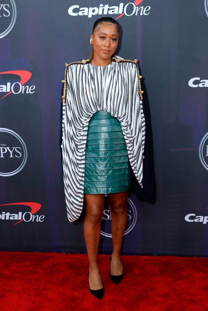Naomi Osaka attends the 2021 ESPY Awards on Saturday in New York City.