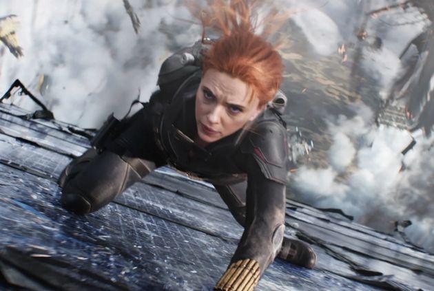 Scarlett Johansson in her final appearance as Natasha Romanoff in