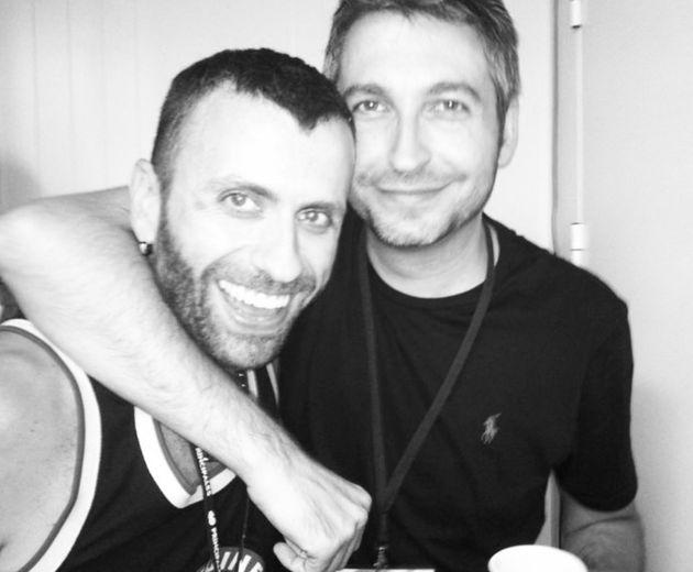 Carlos Lorente, con Frank