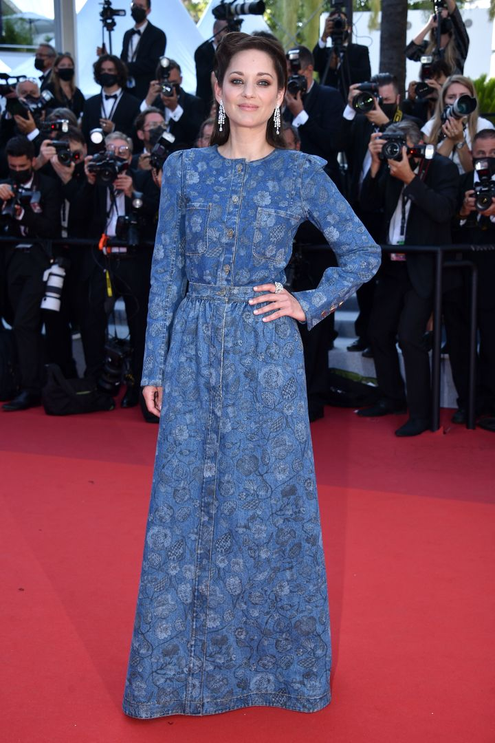 """Marion Cotillard attends the """"De Son Vivient"""" screening at the 74th annual Cannes FIlm Festival."""