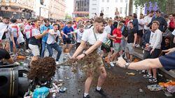 Macrobotellones y caos en los alrededores de Wembley antes de la