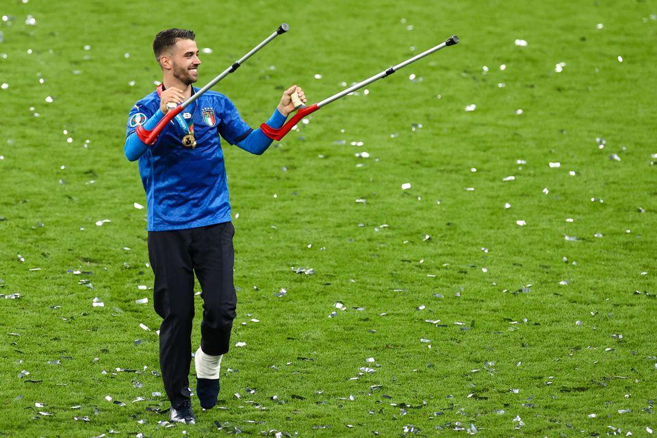 12 July 2021, United Kingdom, London: Football: European Championship, Italy - England, final round,...