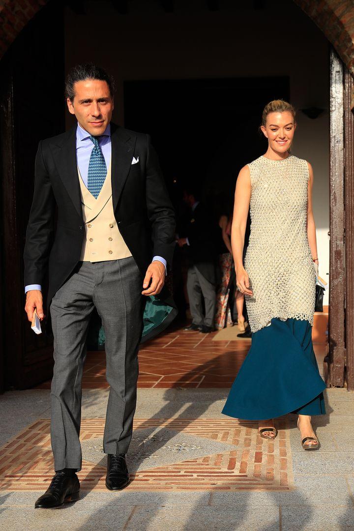 Marta Ortega y Carlos Torretta, en la boda de Felipe Cortina y Amelia Millán.