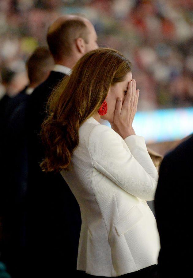 Kate Middleton se lamenta por la derrota de