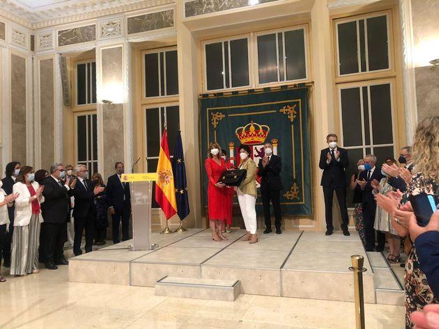 Pilar Alegría, nueva ministra de Educación, en el traspaso de