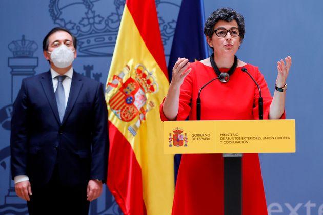 La ex ministra de Asuntos Exteriores, Unión Europea y Cooperación, Arancha González Laya, durante el...
