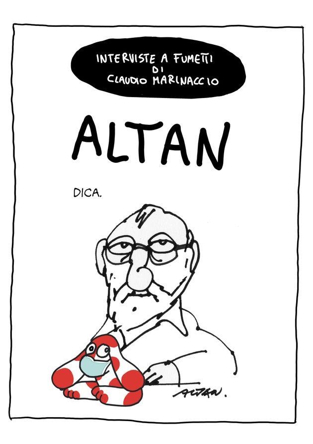 L'autoritratto di Altan realizzato per Huffpost