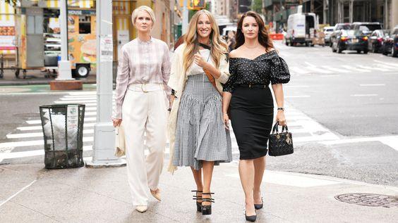 "Cynthia Nixon, Sarah Jessica Parker and Kristin Davis in ""And Just Like That."""