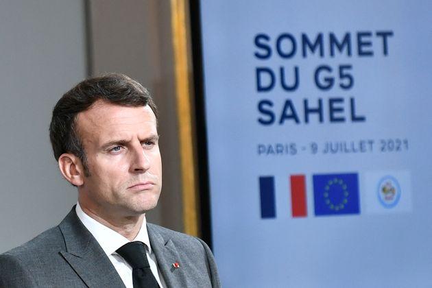 El presidente de Francia, Emmanuel