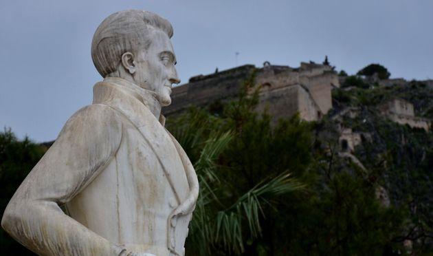 Ναύπλιο. Το άγαλμα του πρώτου Κυβερνήτη της Ελλάδας, Ιωάννη
