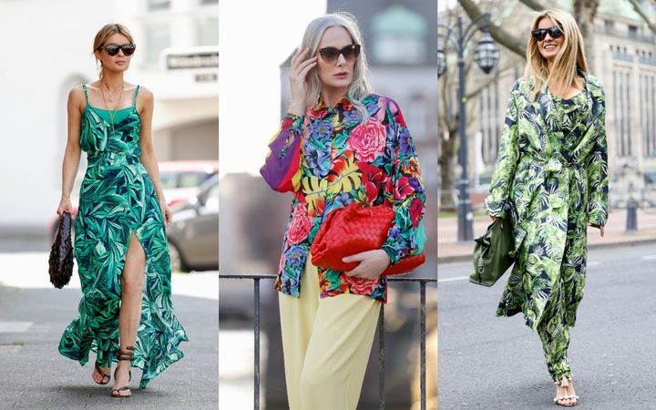 Tropical prints have appeared in influencer street style photos as well.