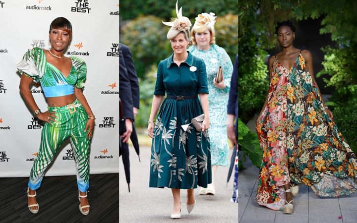 Tropical prints have appeared on red carpets, runways and royal outings lately.