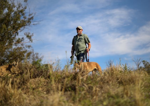 A game range with his dog doing anti poaching