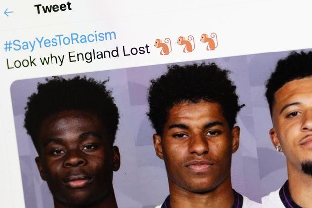 Los mensajes contra los jugadores de Inglaterra en redes