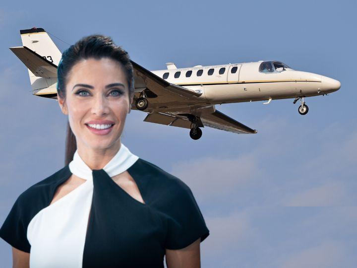 Pilar Rubio y su jet Cessna 560.