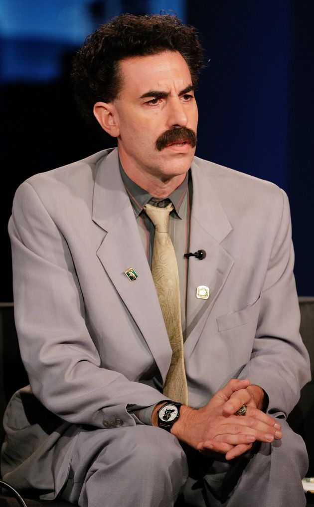 Sacha Baron Cohen in character as Borat, pictured on Jimmy Kimmel Live last