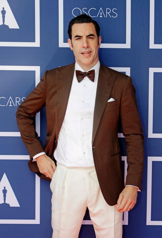 Sacha Baron Cohen at the Oscars earlier this