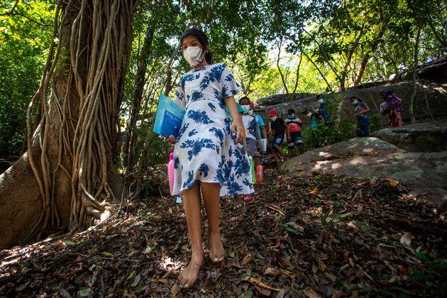 Σρι Λάνκα: Εκεί που η τηλεκπαίδευση γίνεται πάνω σε δέντρα και δίπλα σε