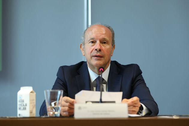 El exministro de Justicia Juan Carlos Campo, el pasado 10 de junio, en