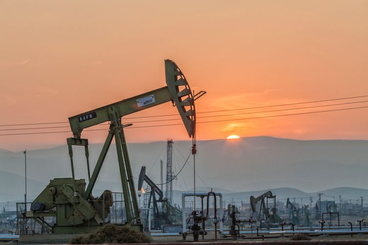 Pumpjacks at the Belridge Oil Field and hydraulic fracking site which is the fourth largest oil field in California.