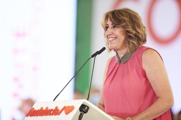 La expresidenta de Andalucía Susana Díaz, durante la reunión del Comité Director extraordinario del PSOE-A,...
