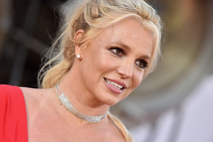 """Britney Spears attends Sony Pictures' Los Angeles premiere of """"Once Upon a Time... in Hollywood"""" on July 22, 2019."""