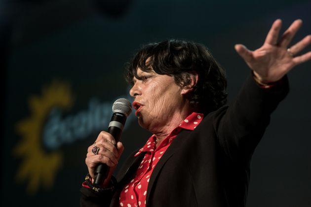 Michèle Rivasi lors d'un meeting pour les élections régionales de 2019
