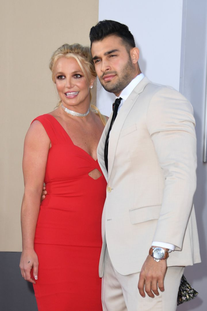 Britney Spears with her boyfriend Sam Asghari in 2019. Last month, Spears said in her testimony that she wants to marry and h