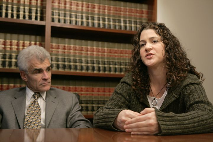 Andrea Mackris and her lawyer, Benedict Morelli, in 2004.
