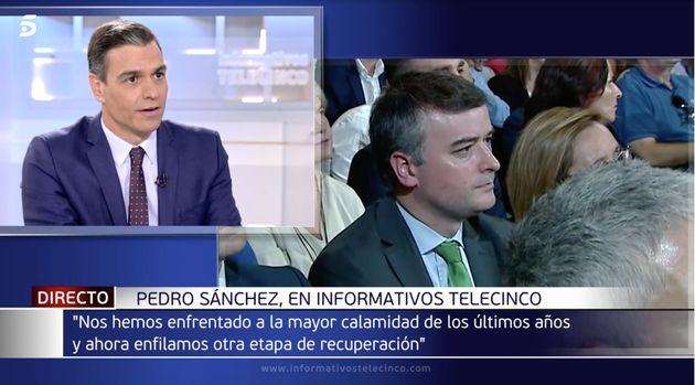 Pedro Sánchez hablando de Iván Redondo en Informativos