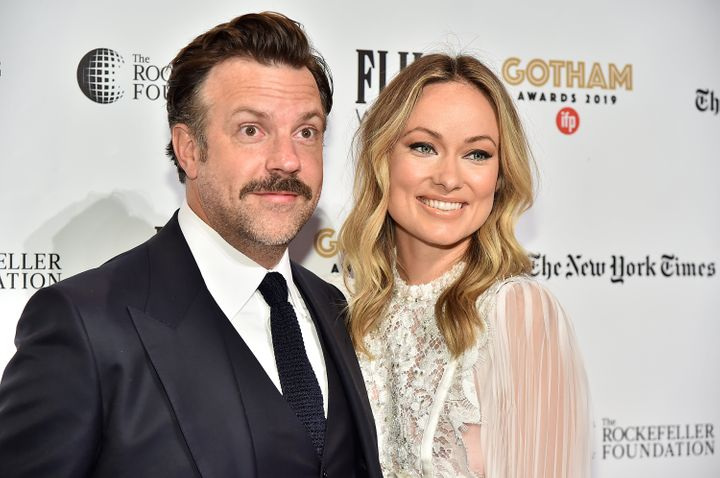 Jason Sudeikis and Olivia Wilde attend the IFP's 29th Annual Gotham Independent Film Awards in 2019.