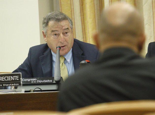 José Antonio Sánchez, en el Congreso dando cuentas de su gestión sobre