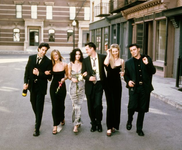 The cast of Friends pictured at the height of the show's