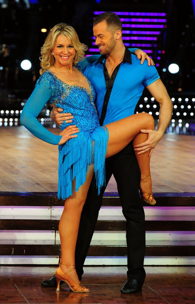 Fern Britton and Artem Chigvintsev on the Strictly