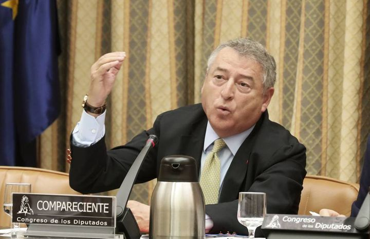 José Antonio Sánchez en el Congreso de los Diputados cuando era presidente de RTVE.