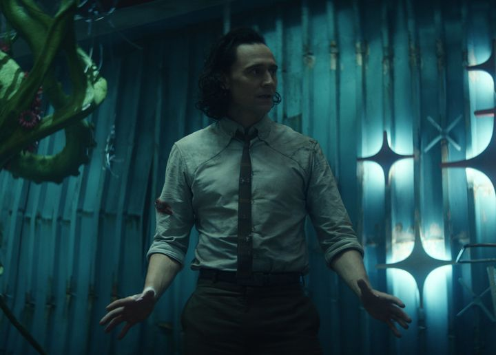 "Tom Hiddleston in ""Loki."""