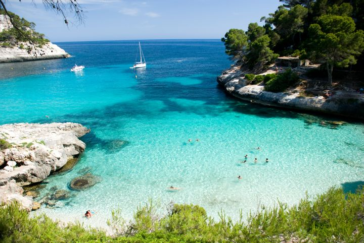 Cala Mitjana beach, Menorca.