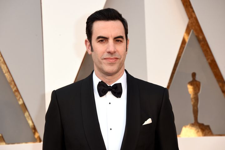 Sacha Baron Cohen attends the 88th Annual Academy Awards on Feb. 28, 2016 in Hollywood, California.